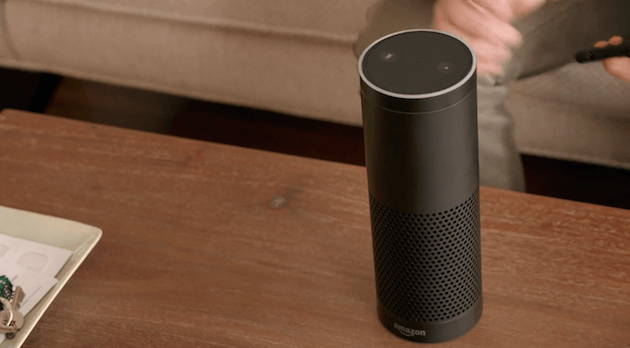 Amazon Echo pictured above.