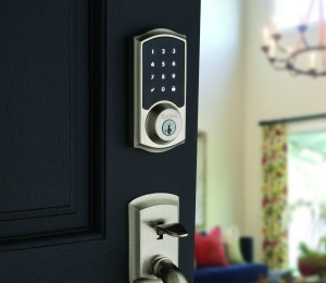 Homeowners easily can check the security of their household regardless of their location with the 916 SmartCode Deadbolt with HomeConnect from Kwikset. The smart deadbolt is also equipped with Kwikset's SmartKey technology, which is both pick and bump resistant for added security.