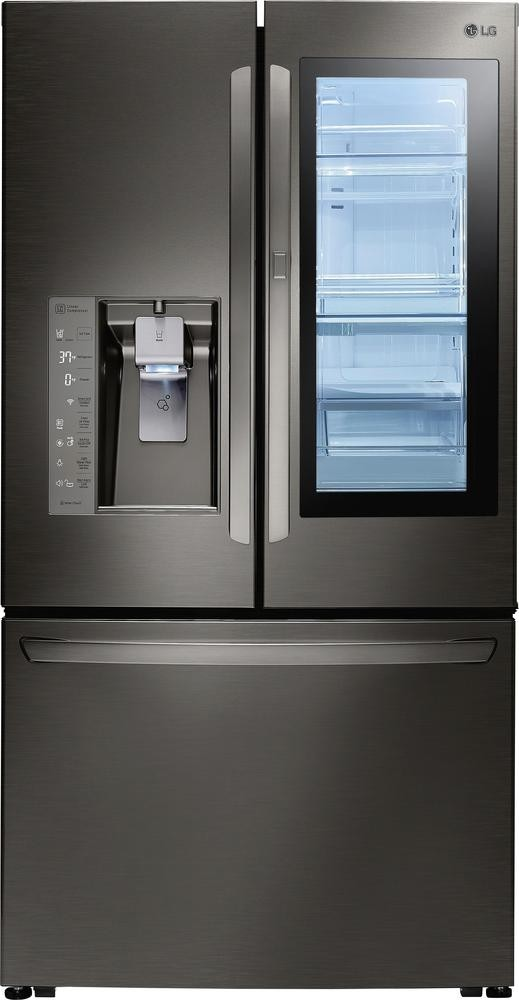 A company marketing photo of the LG InstaView Refridgerator
