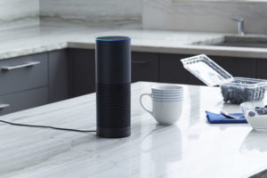 An image of an Amazon Echo