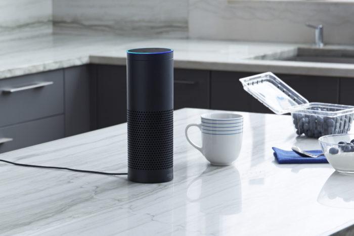 An image of an Amazon Echo