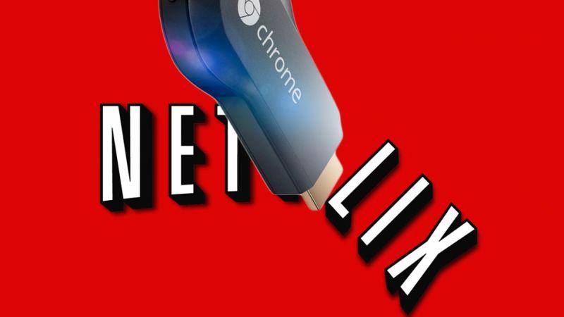 Graphic of the Netflix service on Chromecast