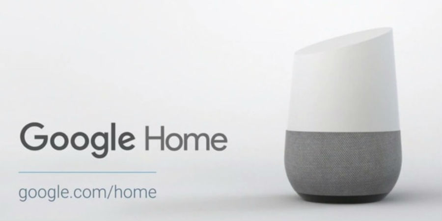 A promotional image for Google Home