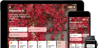 A graphic of the homekit app
