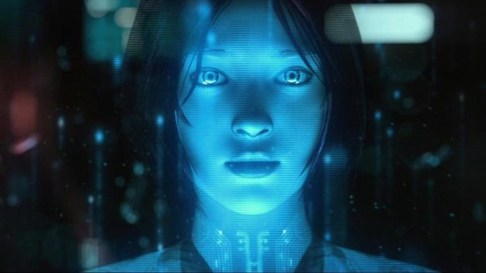 A simulated image of the character Cortana from Halo