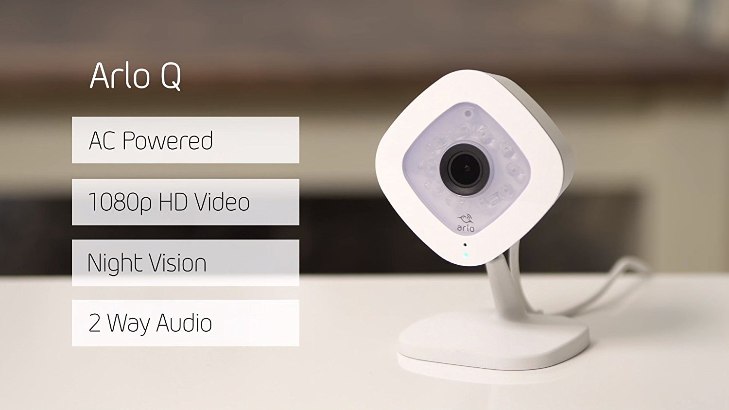 An image of the Arlo Q security camera