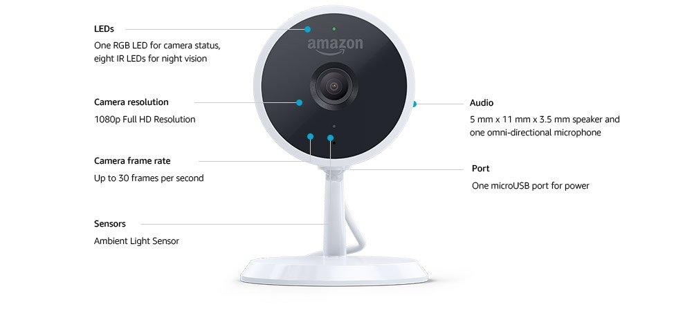 Amazon Cloud Cam Tech Specs